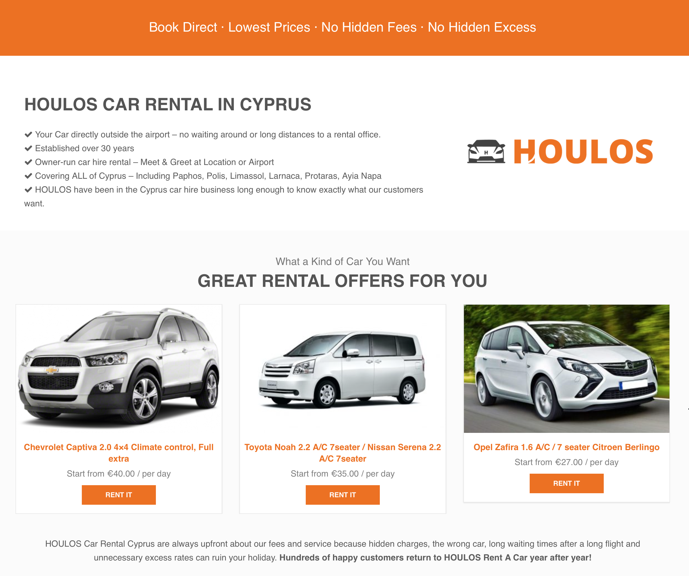 car rental cyprus | rent a car in cyprus | houlos car hire